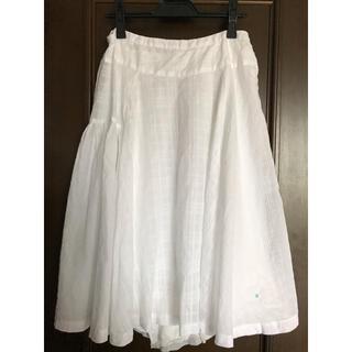 パドカレ(pas de calais)のパドカレ 白 スカート ペチコート付き(ひざ丈スカート)
