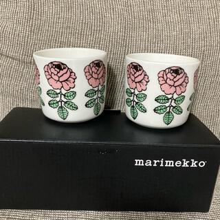 マリメッコ(marimekko)のmarimekkoマリメッコ ヴィヒキルース ウエディングローズラテマグ ピンク(食器)