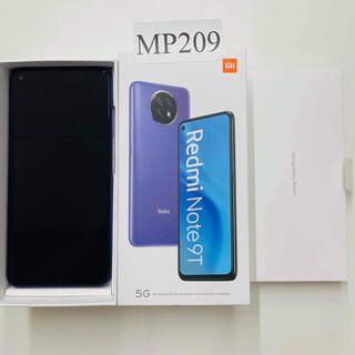 ANDROID - 新品、未使用 Xiaomi Redmi Note 9T シムロック解除済み