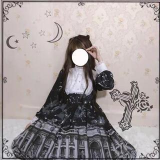 夢カワー病みカワー ゴシック ゴスロリ ドレス&ローファー&パニエ(衣装一式)