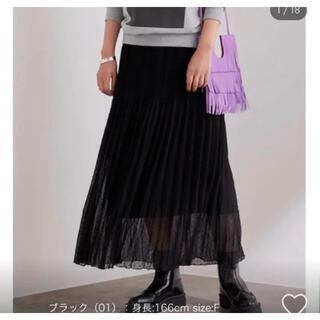 アダムエロぺ(Adam et Rope')のアダムエロペ スカート プリーツ ブラック(ロングスカート)