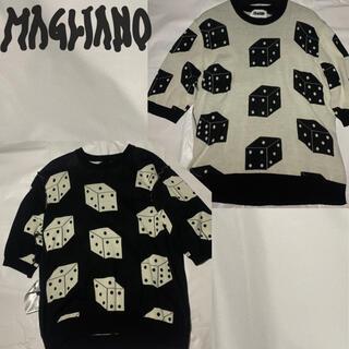 ジョンローレンスサリバン(JOHN LAWRENCE SULLIVAN)のマリアーノ リバーシブル  サマー ニット リンガー tシャツ (ニット/セーター)
