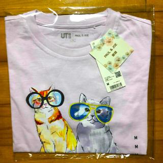 ポールアンドジョー(PAUL & JOE)のUNIQLO × PAUL & JOE ☆グラフィックTシャツ☆(新品)PINK(Tシャツ(半袖/袖なし))