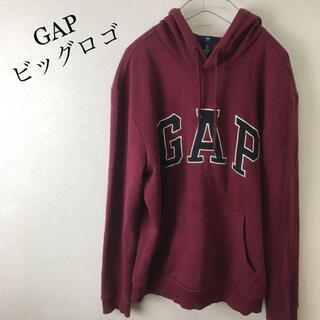 ギャップ(GAP)の美品 GAP  ギャップ ビッグロゴ パーカー サイズ S ボルドー(パーカー)