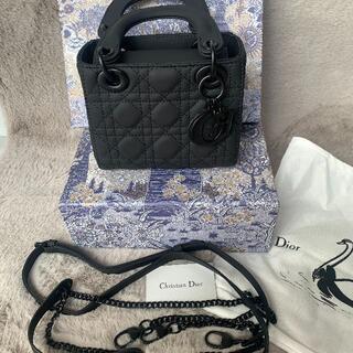 クリスチャンディオール(Christian Dior)の美品 Dior レザー /レディディオール カナージュ(ピアス)