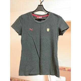 プーマ(PUMA)の【PUMA×FERRARI】Tシャツ M 黒 綿100% レディース 女性(Tシャツ(半袖/袖なし))