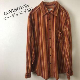 ビームス(BEAMS)のCOVINGTON コーデュロイ ストライプ シャツ オーバーサイズ オレンジ(シャツ)