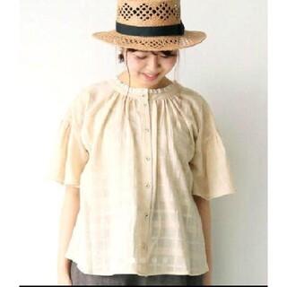 SM2 - 新品 サマンサモスモス チェック織り前後着衿レースブラウス