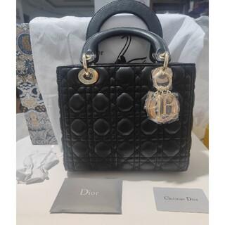 クリスチャンディオール(Christian Dior)の新品 DIOR Lady Dior ウルトラマット ミディアムバッグ ゴールド(ハンドバッグ)