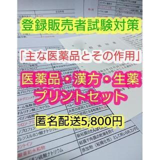 登録販売者【試験対策プリントセット35枚】登録販売者テキスト 縁起物