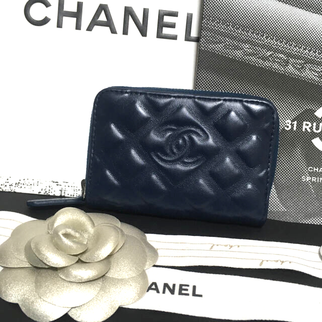 CHANEL(シャネル)の美品★  シャネル ダイヤモンドCC コインケース ミニ財布 正規品 レディースのファッション小物(財布)の商品写真