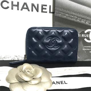 CHANEL - 美品★  シャネル ダイヤモンドCC コインケース ミニ財布 正規品