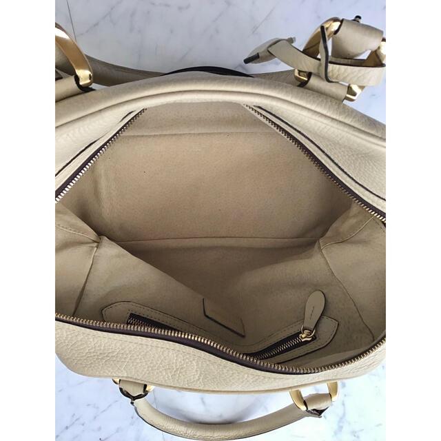 J&M DAVIDSON(ジェイアンドエムデヴィッドソン)のJ & M DAVIDSON ミニミア ボストンバック (ベージュ) お値下げ レディースのバッグ(ボストンバッグ)の商品写真