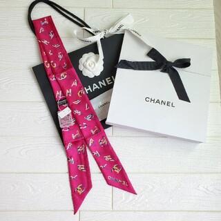 CHANEL - シャネル ツイリー スカーフ ヘアバンド シルクツイル ピンク 新作 新品未使用