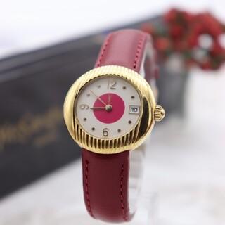 サンローラン(Saint Laurent)の正規品【新品電池】YvesSaintLaurent/01C ピンク 動作良好(腕時計)