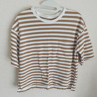 ムジルシリョウヒン(MUJI (無印良品))の無印良品 ボーダー トップス(Tシャツ(半袖/袖なし))