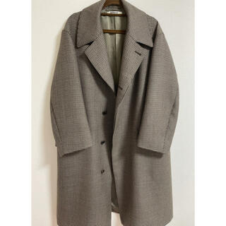 AURALEE コート DOUBLE FACE CHECK LONG COAT
