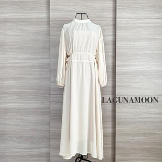 LagunaMoon - LAGUNAMOON ラグナムーン ギャザーデザインマキシワンピース