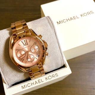 マイケルコース(Michael Kors)の【大特価!!】マイケルコース 英字クロノグラフ腕時計 ピンクゴールド 秋🎀(腕時計)