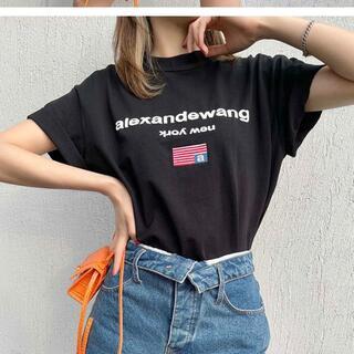 アレキサンダーワン(Alexander Wang)の限定美品【Alexander Wang】半袖のtシャツ(Tシャツ(半袖/袖なし))