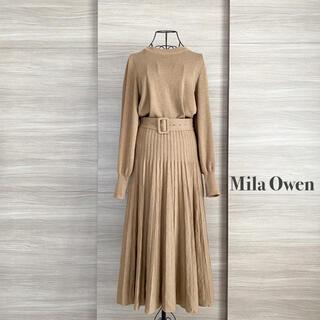 Mila Owen - Mila Owen ミラオーウェン プリーツスカートニットセットアップ
