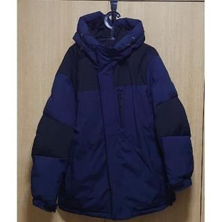 3XL SUGGESTION 中綿フードジャケット   ネイビー×ブラック