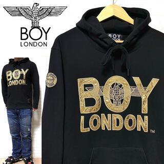 ボーイロンドン(Boy London)のBOY LONDON ボーイロンドン スネーク柄 ゴールド刺繍 フーディ 正規品(パーカー)