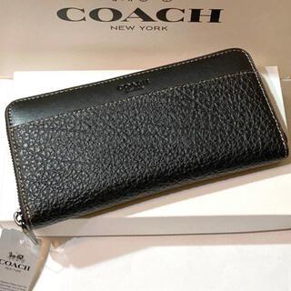 COACH - COACH 長財布 F12130 テクスチャードレザー 箱・紙袋付