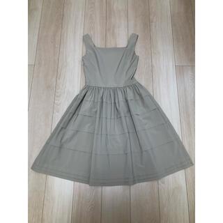 ルネ(René)のルネ rene ノースリーブティアードワンピース 36 ベージュ ドレス(ひざ丈ワンピース)