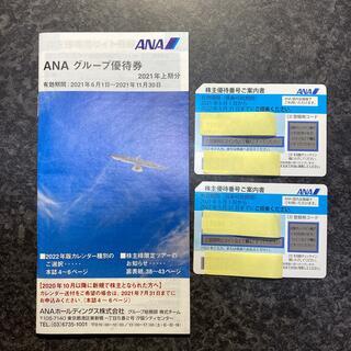 ANA 株主優待2枚+ANAグループ優待券(航空券)