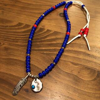 アリゾナフリーダム(ARIZONA FREEDOM)のSAAD フェザー×メタルたたき ホワイトハーツネックレス silver925(ネックレス)