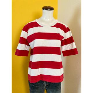 アニエスベー(agnes b.)のアニエスベー☆赤白ボーダーTシャツ☆日本製☆サイズ3☆古着(Tシャツ/カットソー(半袖/袖なし))
