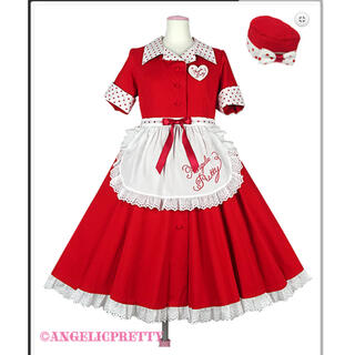 Angelic Pretty - ミルクシェイクワンピースフルセット 赤