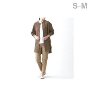 ムジルシリョウヒン(MUJI (無印良品))の無印良品     洗いざらしオックスミドル丈シャツ  S-M・  ブラウン(シャツ)