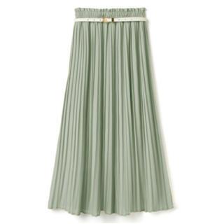 グレイル(GRL)の*完売品*ベルト付きプリーツスカート グリーン(ロングスカート)