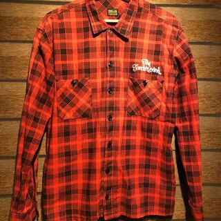 テンダーロイン(TENDERLOIN)のTENDERLOINテンダーロインチェックシャツ ネルシャツジャケット赤黒(シャツ)