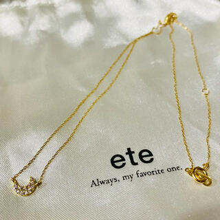 ete - ete  エテ K18  ダイヤモンド パヴェネックレス