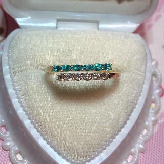 👑ブラジル産👑パライバトルマリン ダイヤモンド リング インドジュエリー