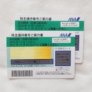 ANA 株主優待券 2枚  2022年5月末迄延長