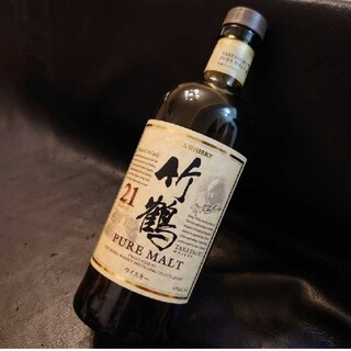 ニッカウイスキー(ニッカウヰスキー)の空瓶 残 未洗浄★ 竹鶴 21年 700ml 空ビン 空ボトル ニッカ (ウイスキー)