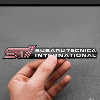 スバル(スバル)のSUBARU STIアルミエンブレムステッカー(車外アクセサリ)