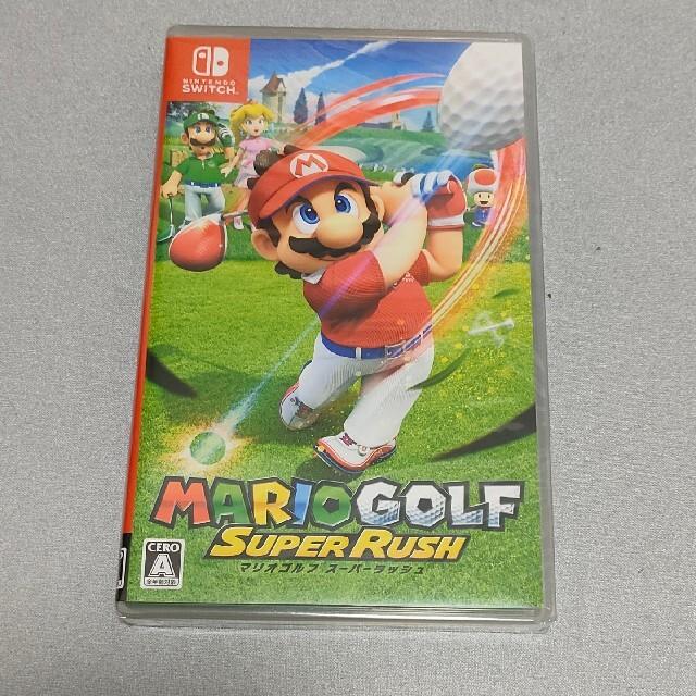 Nintendo Switch(ニンテンドースイッチ)のマリオゴルフ スーパーラッシュ Switch エンタメ/ホビーのゲームソフト/ゲーム機本体(家庭用ゲームソフト)の商品写真
