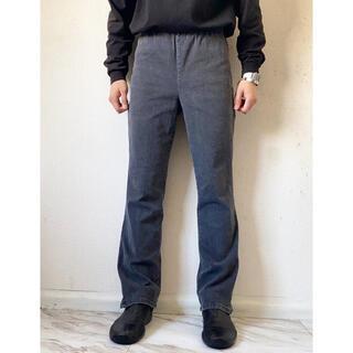 ヨウジヤマモト(Yohji Yamamoto)のvintage 90s usa製 変型 デザイン 墨黒イージーパンツ スラックス(スラックス)