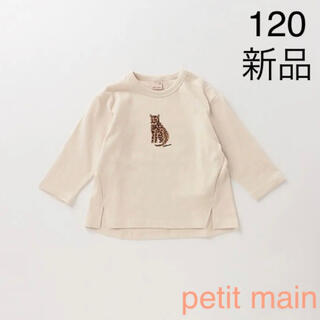 petit main - petit main 抗菌防臭 フロッキープリントグラフィックTシャツ