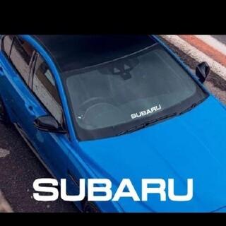 スバル(スバル)のSUBARUロゴ切り文字デカールステッカー(ブラック)(車外アクセサリ)