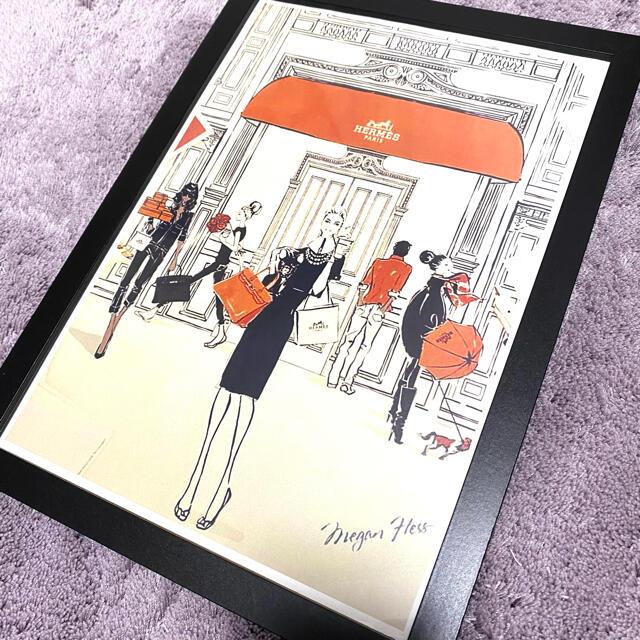 Hermes(エルメス)のインテリアポスター ファブリックポスター エルメス HERMES 韓国 ハンドメイドのインテリア/家具(アート/写真)の商品写真