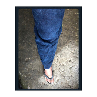 ヨウジヤマモト(Yohji Yamamoto)のKa na ta 10years pants 麻世紗 hemp indigo 1(スラックス)