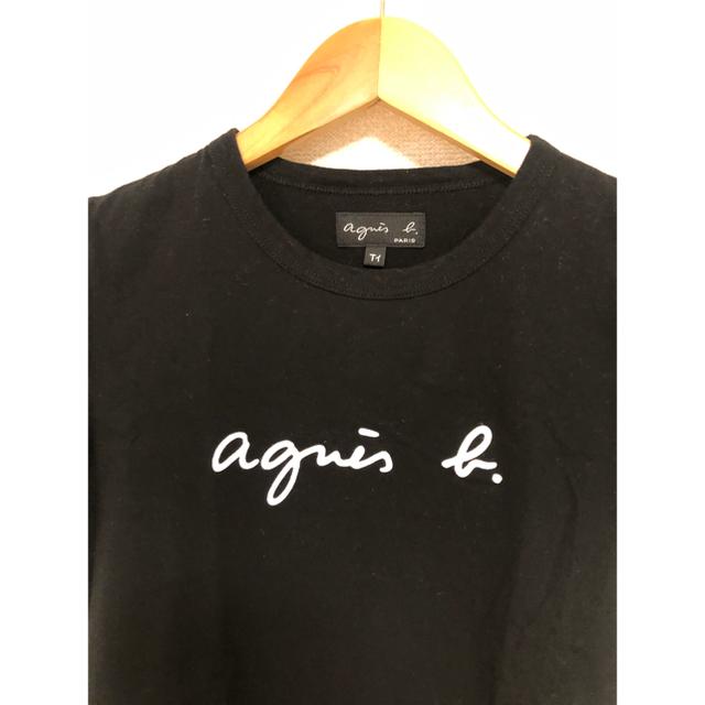 agnes b.(アニエスベー)のお値下げ!アニエスベー Tシャツ 黒 ブラック ロゴ レディースのトップス(Tシャツ(半袖/袖なし))の商品写真