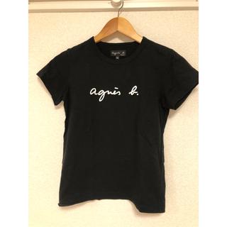 agnes b. - アニエスベー Tシャツ 黒 ブラック ロゴ