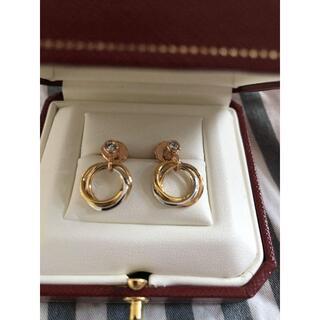 Cartier - カルティエトリニティダイヤモンドピアス